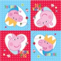 Peppa Pig Party Napkins (16) - New Red